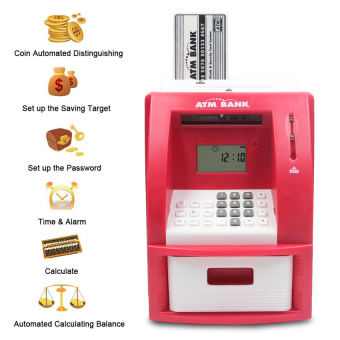 GDS Mini Atm Bank Piggy Bank Personal Saving Money Box MachineWithdigital Display For Children As Gift Red - intl