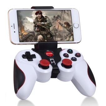 GEN GAME S5 Wireless Bluetooth Gamepad Game Controller with ClipHolder for iOS Android - White - intl Price Philippines