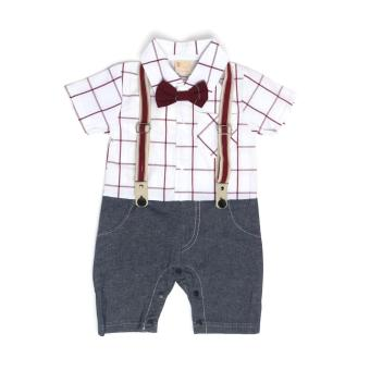 Gentlemen Suit Romper White for 6 to 9 Months Old