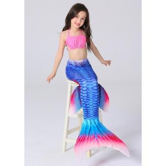 GETEK Girls Kids Swimsuit Mermaid Tail Bikini Set Swimmable Costume Swimwear Beachwear Size:120 -