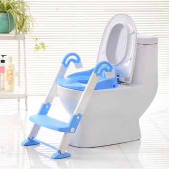 GMY Baby Potty Training Toilet Chair Seat Step Ladder TrainerToddler - Blue