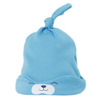 Hang-Qiao Toddler Newborn Baby Cute Bear Boy Girl Sleep Beanies HatSoft Warm Cap Blue