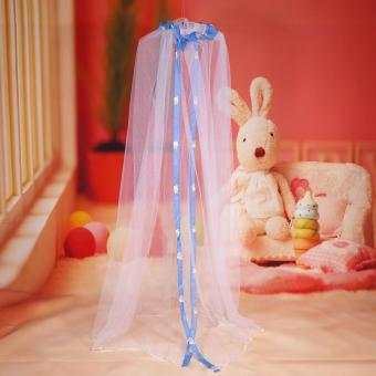 Hanging Round Dome Bed Baby Crib Mosquito Net (Blue) - intl