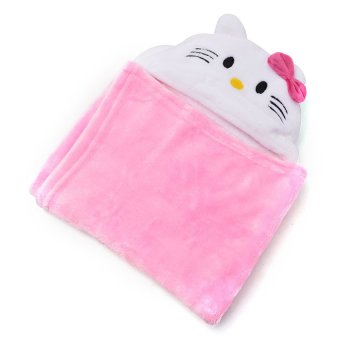 Hello Kitty Hooded Blanket (Pink)