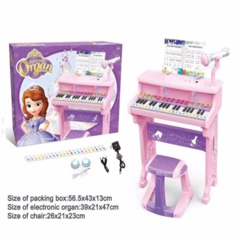 HM Electronic Organ Piano with Microphone Toy Set for Kids (Sofia)