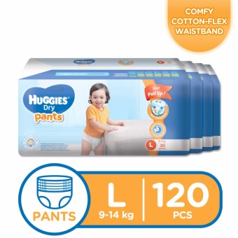 Huggies Dry Pants Large - 30 pcs x 4 packs (120 pcs) Price Philippines