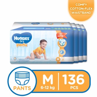 Huggies Dry Pants Medium - 34 pcs x 4 packs (136 pcs) Price Philippines