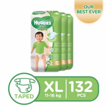 Huggies Ultra Diapers XL - 44 pcs x 3 packs (132 pcs) Price Philippines