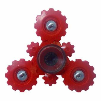 Harga EverSpeed Moyu MY9945 Fingertip Scopperil Hand Spinner Tri-Spinner Fidget Spinner Toy Gear Design (Red)
