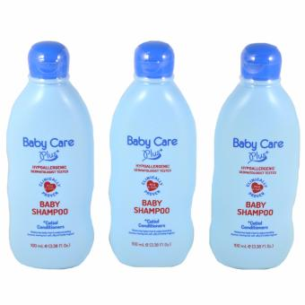 Baby Care Plus Blue Baby Shampoo Set of 3 100mL Price Philippines