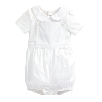 Harga Mamas and Papas Spotted Dungaree and Bodysuit Set (White)