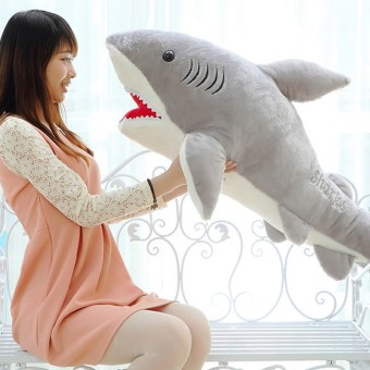 Harga 1 PC 70cm Shark Plush Toy Stuffed Pillow Doll Birthday Gift Kids Toy Baby Toy for Children Boys Girls Gifts VBT69 T50