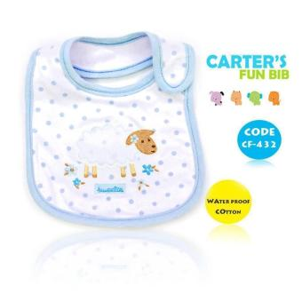 Harga New 2017 BEST STORE BABY SHOP Carter's Bow Suit Baby Feeding Bib 432 (Blue)