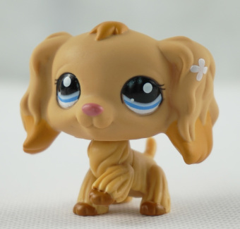 Tan Cocker Spaniel Dog Blue Eyes Caramel Tipped Ears Littlest Pet Shop LPS 1716 - Intl Price Philippines