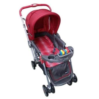 Baby 1st CD-S036B Stroller w/ Toy and Reversable Handle (Red) Price Philippines