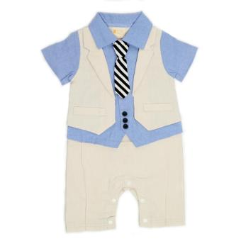 Harga Gentlemen Suit Romper Beige for 9 to 12 Months Old