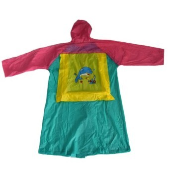 Harga MMC H-886 Robi Cartoon Rainwear Raincoat for Girls (Green)