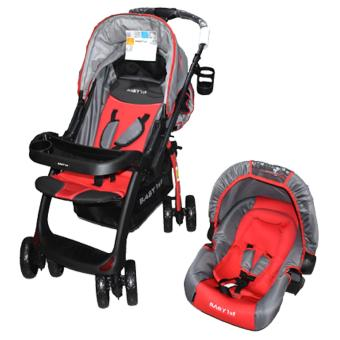 BABY 1ST S-B010KM7 (STROLLER WITH CAR SEAT CARRIER), RED Price Philippines