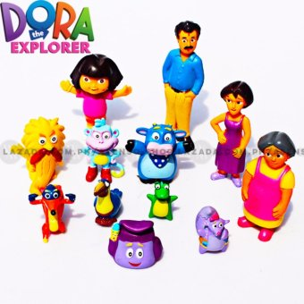Dora the Explorer Kid's 12 Piece Collectible Figurine Family and Friends Set Price Philippines