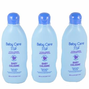 Baby Care Plus Blue Baby Cologne Set of 3 100mL Price Philippines