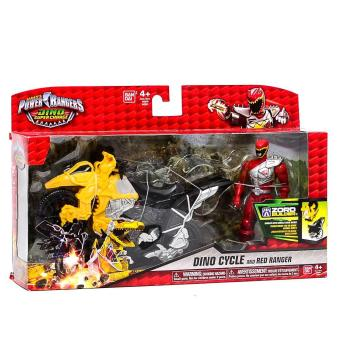 Power Rangers Dino Super Charge - Dino Cycle with Red Ranger Action Figure Price Philippines