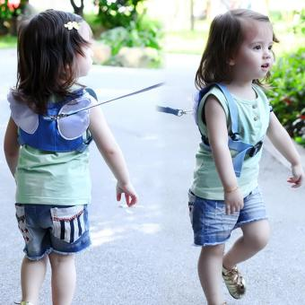 Baby Safety Belt Harness Leashes Strap Bag Anti-lost Angel Wings Keeper Toddler Walking Wings - intl Price Philippines