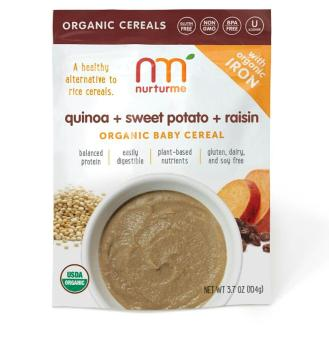 Nurturme Quinoa + sweet potato + raisin organic baby cereal (104g) Price Philippines