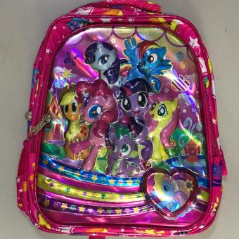 "Partyline Knapsack 14"" 6D printed 2 zipper Little Pony Price Philippines"