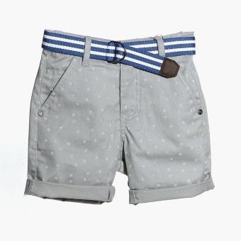 Just Jeans Boys Tiny Lines Belted Chino Shorts (Gray) Price Philippines