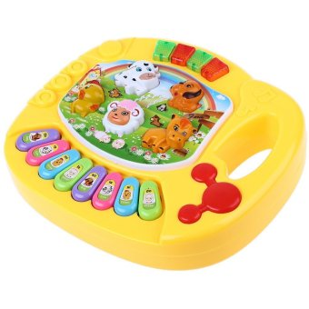 Harga Baby Animal Farm Musical Piano Intelligence Toy Yellow