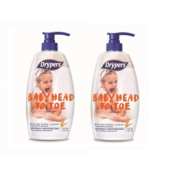 Harga Drypers Baby Head to Toe 750ml Pack of 2