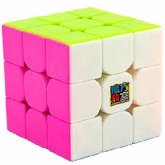 Harga MoFang JiaoShi MF3RS 3x3x3 Rubik's Speed Magic Cube Pink Stickerless