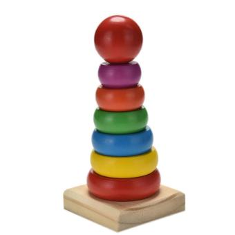 Harga Rainbow Tower Wooden Toy