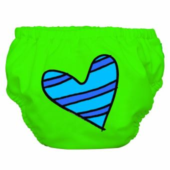 Charlie Banana 2-in-1 Blue Petit Coeur on Green Swimming Diaper / Training pants Price Philippines
