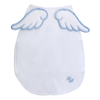 Baby Angel Wings Sweat Fabric Towel Without Fluorescent Agent (Sky Blue) - intl Price Philippines
