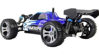 Harga High Quality A959 RC Monster Truck 1:18 High Speed RC Car Toy Blue - intl