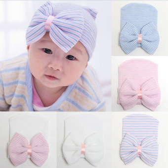 Cuteborn Babys Infant Girl Toddler Comfy Bowknot Hospital Cap Beanie Hat Purple - Intl Price Philippines