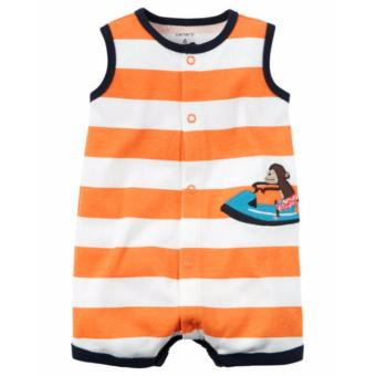 Harga Carter Snap-Up Striped Romper 6M
