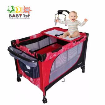Baby 1st P510DCR New Baby Playpen Crib (Red) Price Philippines
