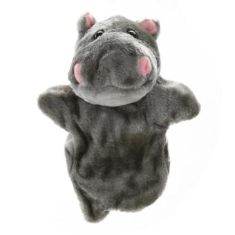 Cute Hippopotamus Hand Puppet Baby Soft Doll Plush Toy (Grey) - intl Price Philippines