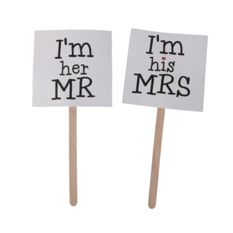 Harga Mr and Mrs Cake Topper Sticks Wedding Cake Topper Funny Mrs Mr Photo Props