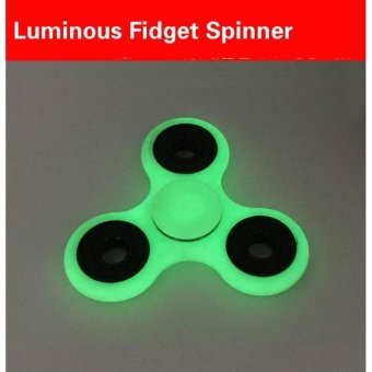 Harga Luminous Fidget Spinner Finger Tip Gyro Gyro Decompression HandSpinner Glow Grey - intl