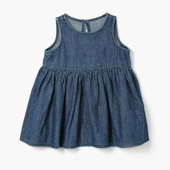 Harga Little Miss Girls Denim Empire Dress (Blue)