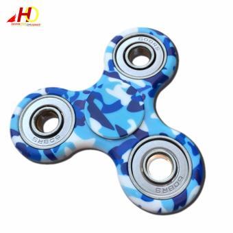 Fidget Finger Spinner Camouflage EDC Finger Toys Hand Spinner ABS Tri-spinner Anti Stress Autism (Blue) Price Philippines