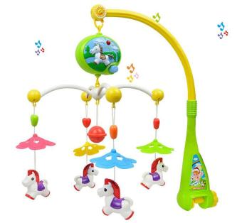 Harga Newborn baby ring bell 0-12 months baby toy baby bedside music rotation hanging Bell - intl