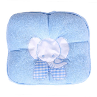 Comfy Elephant Baby Infant Pillow Prevent Flat Head (Blue) - intl Price Philippines