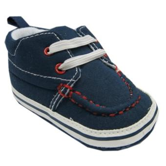 Harga Rock A Bye Baby Pre-Walker Navy Canvas Sneaker For 12-18 Months Old
