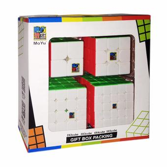 Harga Moyu MoFang JiaoShi Gift Set MF2S 2X2 & MF3S 3X3 & MF4S 4X4 & MF5 5X5 Stickerless Bright Magic Cubing Classroom Competitive Speed Rubik's Cube Set