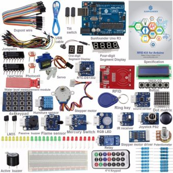 Harga SunFounder UNO R3 Kit Upgraded Version RFID Learning Kit V2.0 for Arduino - intl