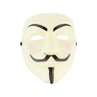 Harga OH New V for Vendetta Anonymous Movie Adult Men Yellow Mask Halloween Costume Cool